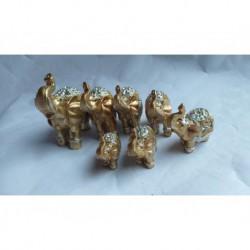 X-3621 Слоны цена за Набор 7шт N131